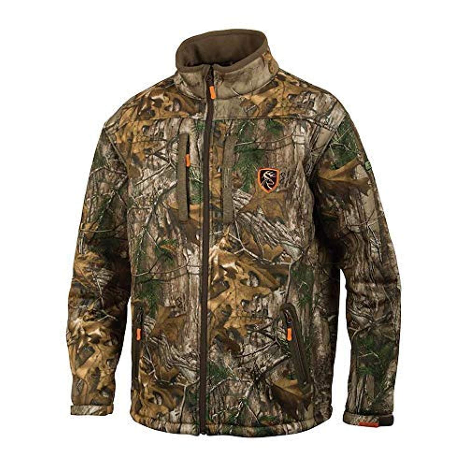 Drake Youth Silencer Full Zip Jacket with Agion Active XL - Realtree Edge (10) by Drake