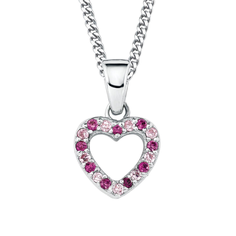 Prinzessin Lillifee Kinder-Halskette mit Anhänger Herz Mädchen 925 Silber längenverstellbar PLF5/28