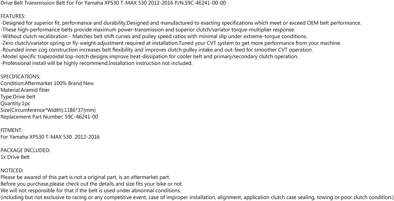 Areyourshop ricambio 59C-46241-00 Cinghia di trasmissione a V per Yamaha T-MAX 530 XP530 2012-2016
