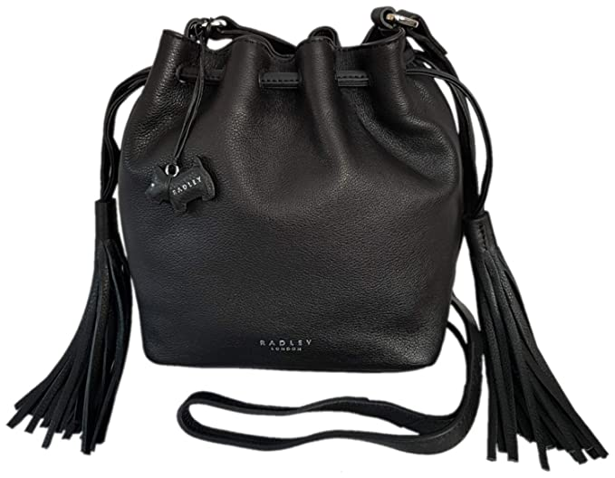 dc78caab85b39 Image Unavailable. Image not available for. Colour: RADLEY 'Hello Sunshine' Black  Leather Small Across Body Bag ...