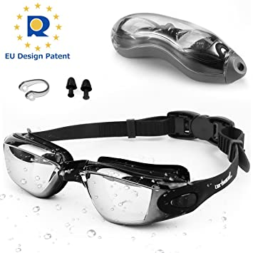 513e454fd6 Zerhunt Swimming Goggles Adult Mens Children - Mirror Swim Goggles Anti Fog  with UV Protection No Leaking with Nose Clip and Earplugs