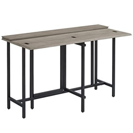 Beau Convertible Dining Table Wood Contemporary Expandable Home Console Kitchen  Table