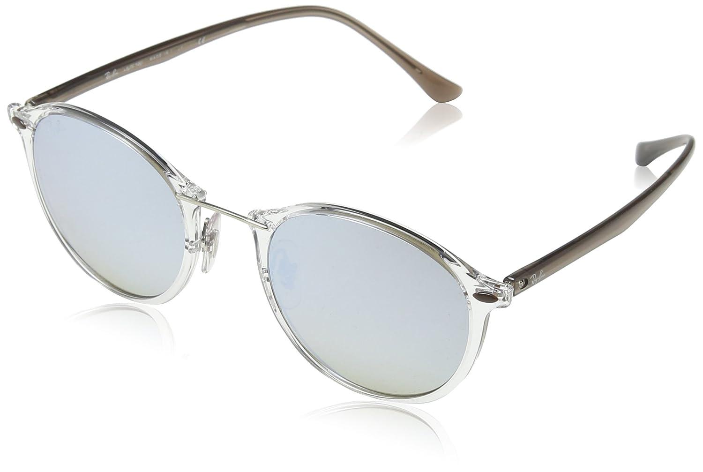 Ray-Ban Metal Bridge Round Sunglasses in Transparent Gradient Brown Silver Mirror RB4242 6290B8 49 Negro 0RB4242 MOD.4242SUN_6290B8-49