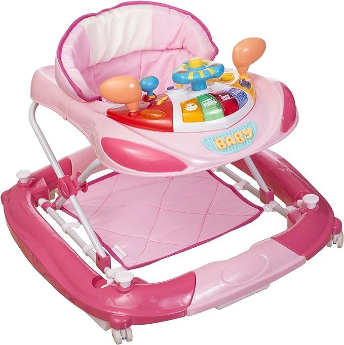 Andador infantil Bieco Activity y ayuda para aprender a andar rosa ...