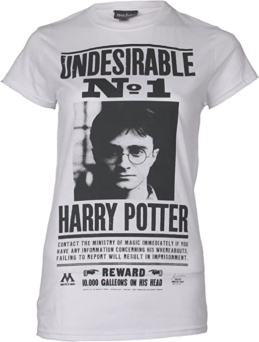 ICONIC COLLECTION - HARRY POTTER HP Undesireable Camiseta para Mujer: Amazon.es: Ropa y accesorios