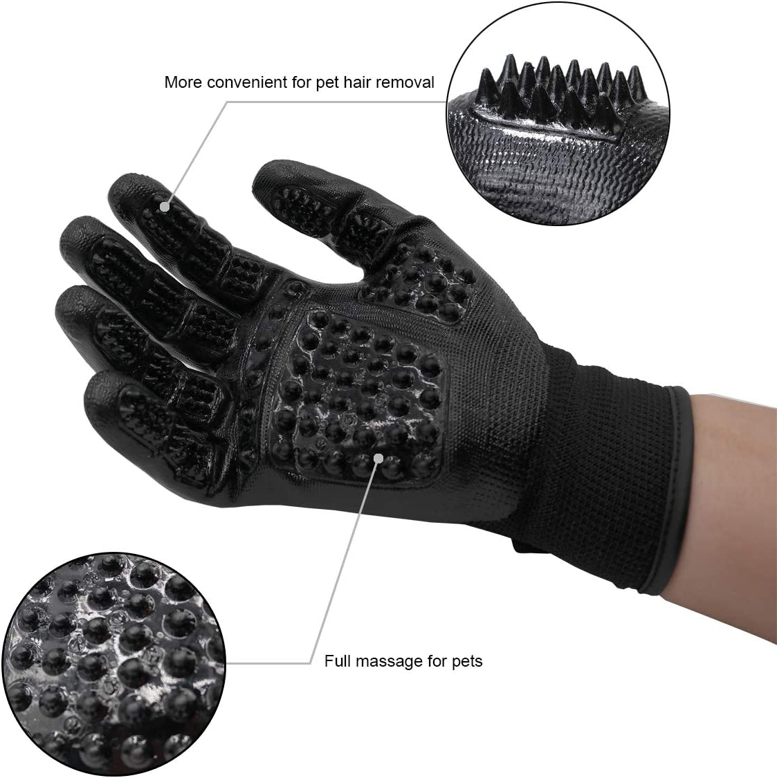 Hair Removal Mitts & Rollers PamerCamel Pet Grooming Gloves Efficient Hair  Removal Gloves,1 Pair of Pet Hair Brush Gloves,Pet Massage Gloves,Suitable  for Dogs Cats and Horses Pet Supplies