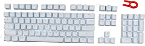 104 PBT Double Shot Backlit Keycaps for Mechanical Gaming Keyboard (Compatible Cherry MX Switches) - OEM Profile (Light Blue)