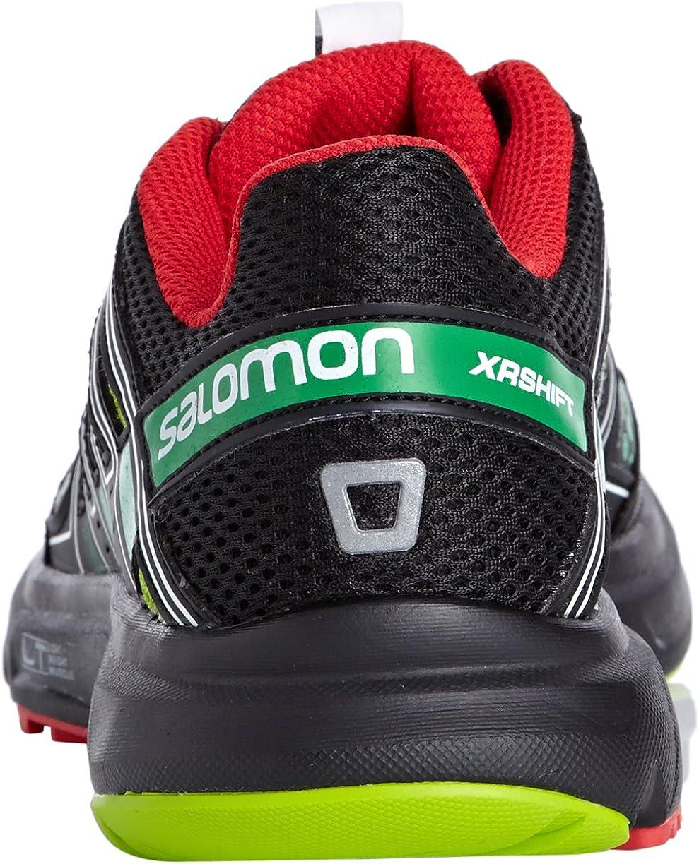 SALOMON XR Shift Zapatilla de Running Caballero, Negro/Verde, 44 ...