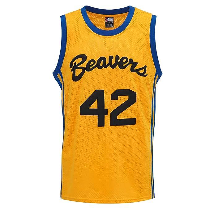 MOLPE Howard # 42 Beavers Baloncesto Jersey S-XXXL Amarillo ...