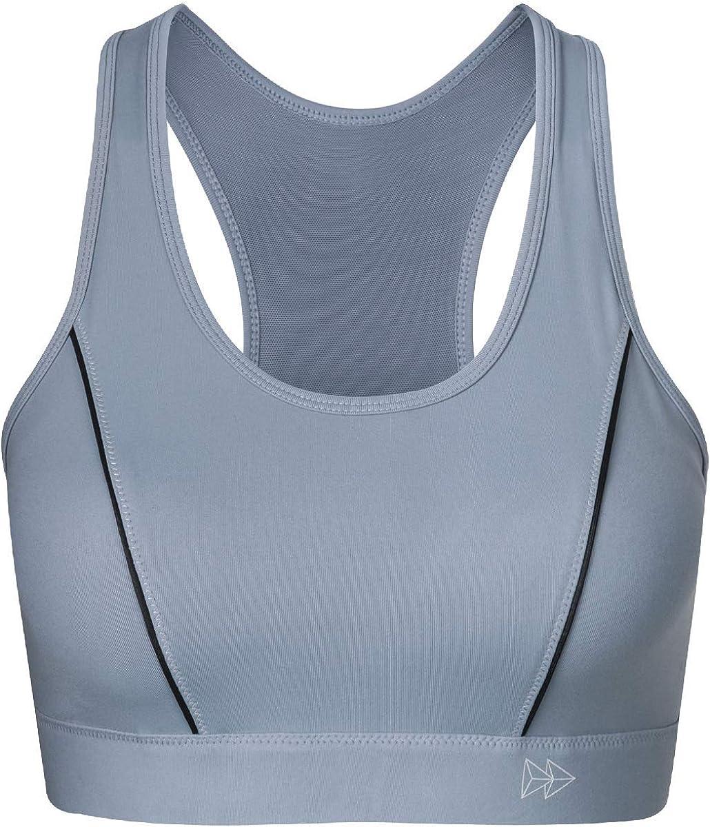 Yvette Soutien-Gorge de Sport pour Femmes Tenue Forte Fermeture Avant sans Armature Dos Nageur Non rembourr/é pour Le Yoga Fitness Jogging