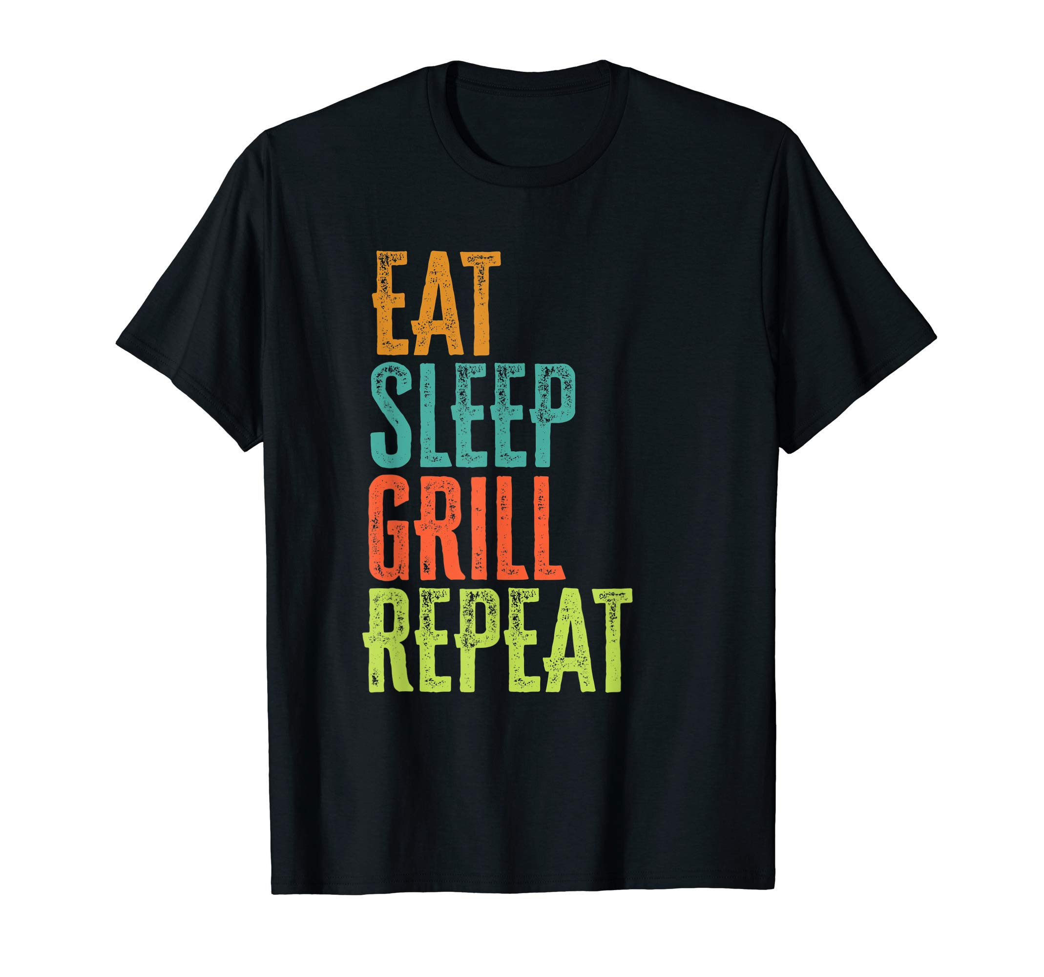 Eat Sleep Grill Repeat Culinary Chef Cook Meat Beef Veggie T-Shirt by Vintage Cooking Party Classic Epic Novelty Gifts