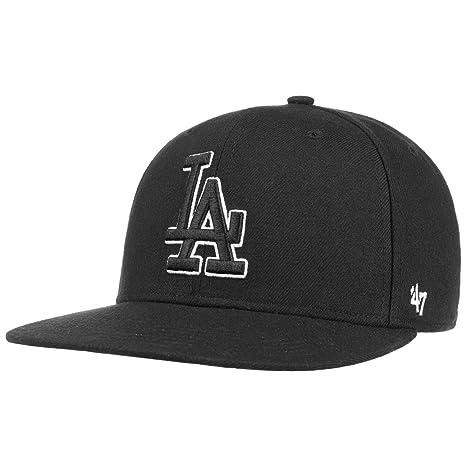 2068db18cea6c Amazon.com    47 Brand Los Angeles Dodgers Sureshot MLB Snapback Cap (Black)    Sports   Outdoors
