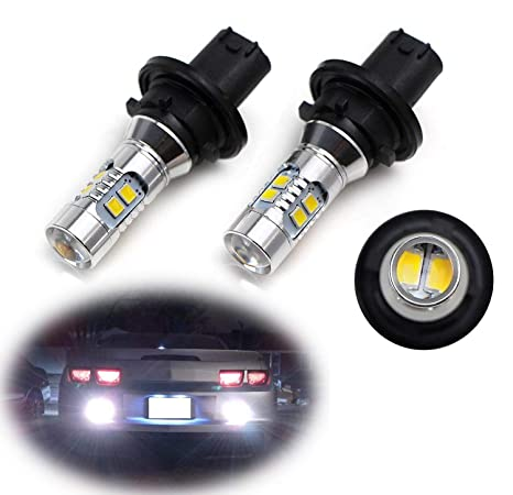 ijdmtoy (2) xenon white can-bus 12184 12185 ph24w led bulbs for 2010