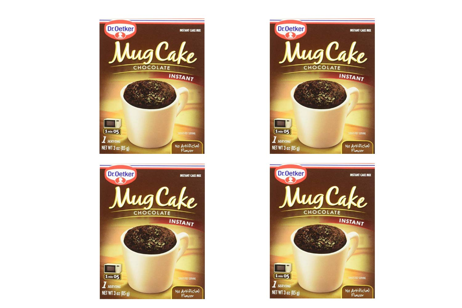 Dr. Oetker Mug Cake Chocolate Instant Cake Mix 3-Ounce (4 Count) (4 Pack)