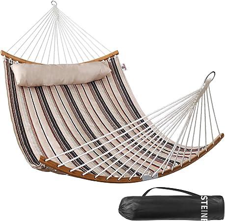 Amazon.com: STEINBROOKS Hamaca de tela acolchada con barras ...
