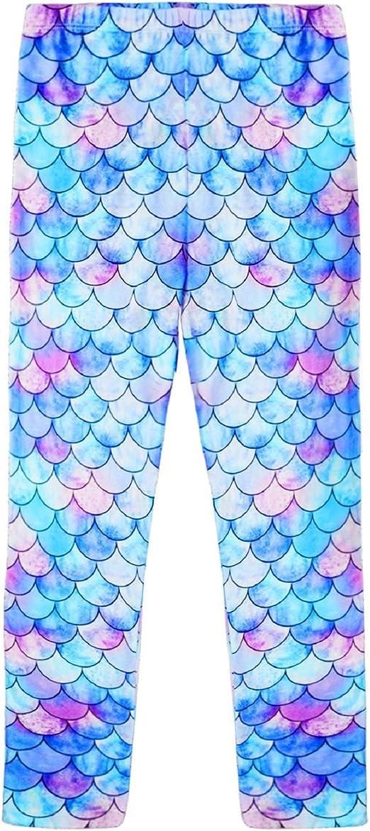 EnlaMorea Girls Unicorn Graphic Print Legging Kids Ankle Length Skinny Pants