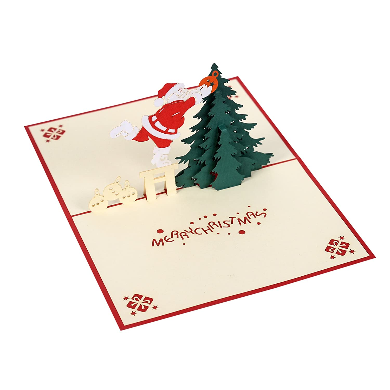 Amazon.com : 3D Popup cards for Christmas season, Paper Art ...