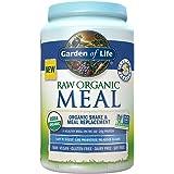Garden of Life Meal Replacement - Organic Raw Plant Based Protein Powder, Vanilla, Vegan, Gluten-Free, 34.2oz (969g) Powder