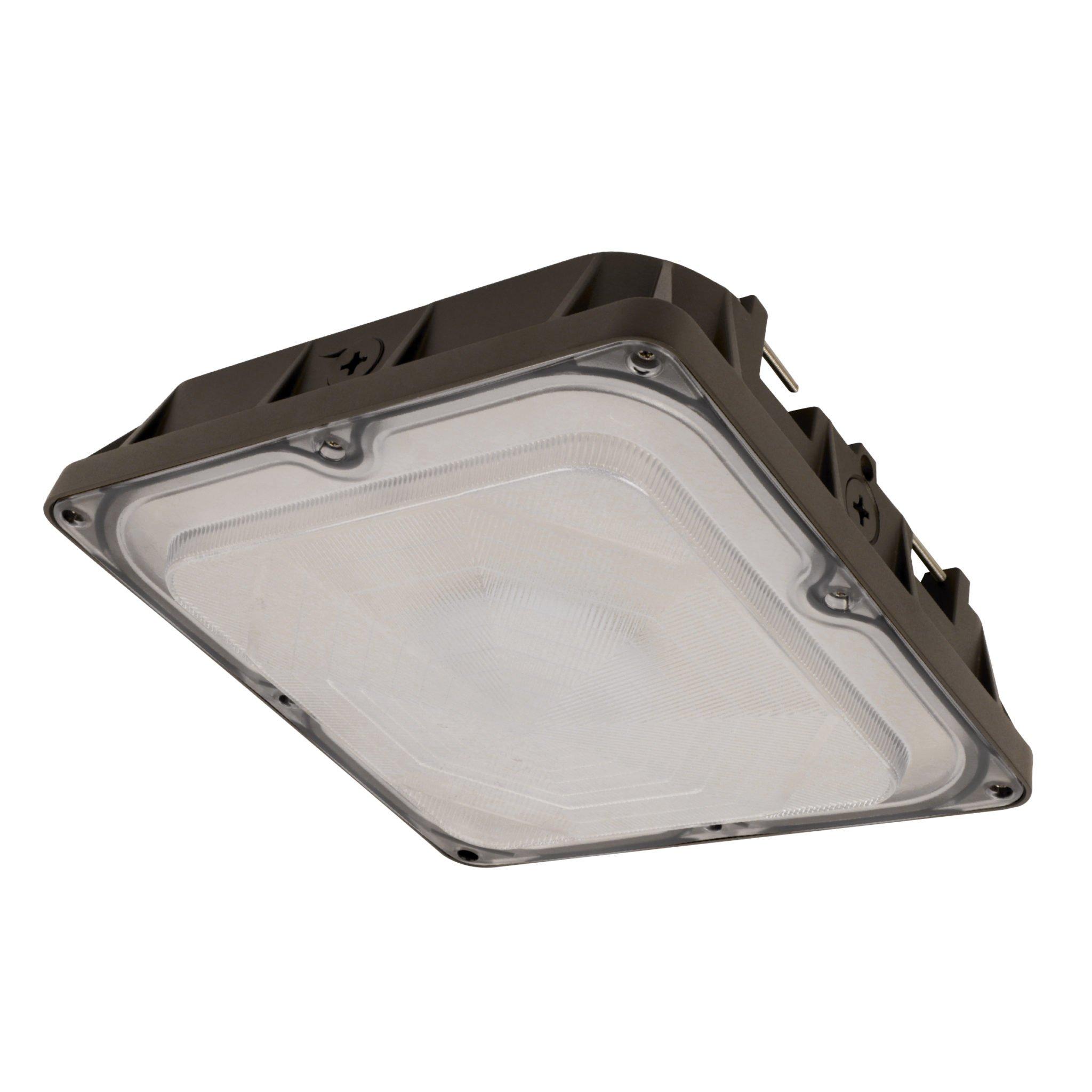 FEIT S10CNPY/850/BZ 4700 Lumen 5000K LED Canopy, 120-277V, 0-10V DIMMABLE - Bronze Finish