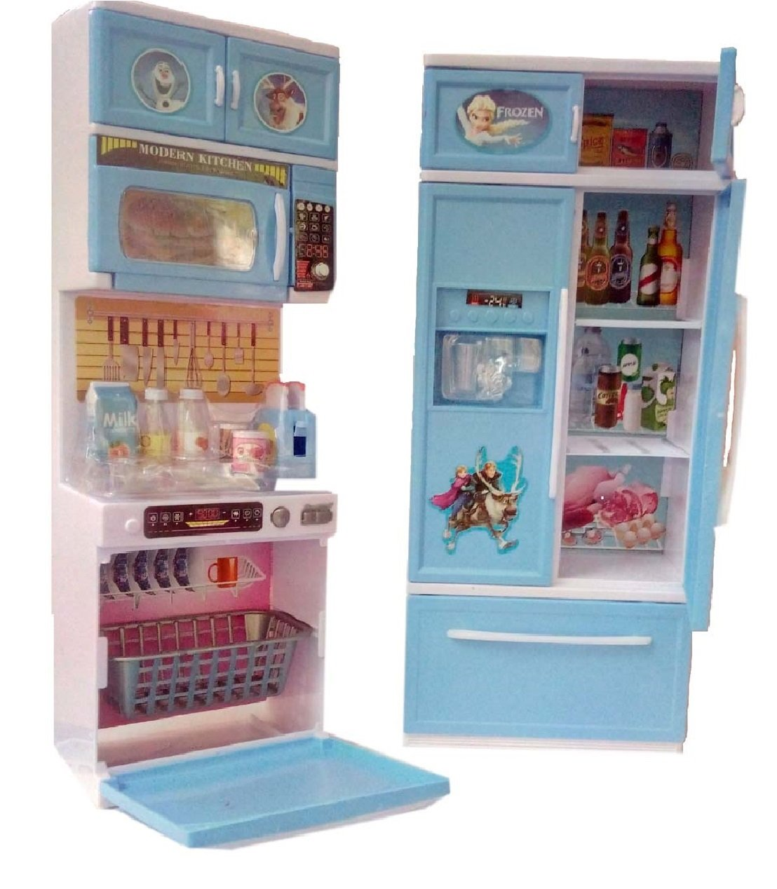 Buy HALO NATION Frozen Modern Kitchen Set with Elsa and Anna Dolls ...