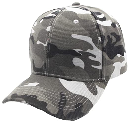 efb69754059 Amazon.com  Nadition Baseball Cap Clearance ♥ Camo Cap Baseball Casquette  Camouflage Hats for Hunting Fishing Outdoor Activities (Gray)  Clothing