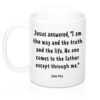 Christian Coffee MugCup Inspirational John 146 Scripture Bible Quote Religious