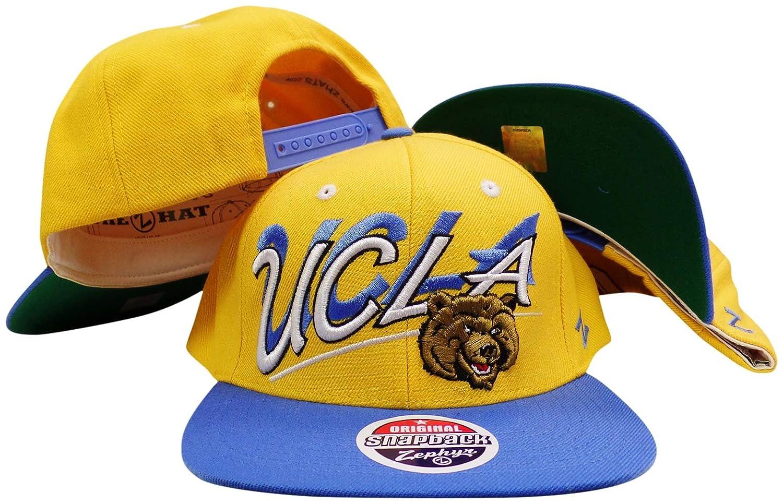 UCLA Bruinsイエロー/ブルーシャドウスクリプトプラスチックスナップバック調整可能な帽子/キャップ   B01B5BN3KQ