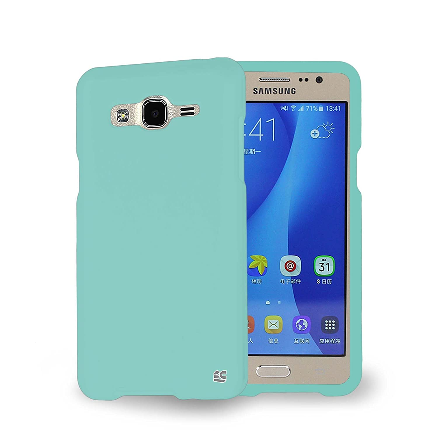nice shoes 15950 fea6b Protective Case For Samsung Galaxy On 5 SM-G550T Slim Two Piece Snap On  Hard Plastic Rubberize Feel Durable Drop Proof (Mint)