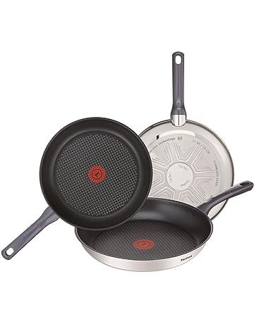Tefal Daily Cook - Set de 3 sartenes de acero inoxidable de 20, 24 y