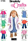 Simplicity Sewing Pattern 4786 Doll Clothes, One Size