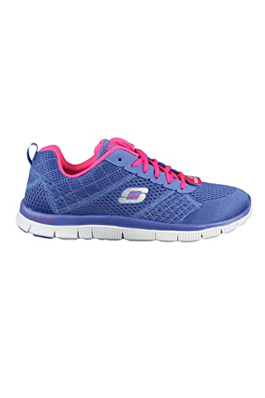 1bb5de1f07bf Skechers 12058 Flex Appeal PeriWinkle Pink Purple Womens Memory Foam  Trainers  Amazon.co.uk  Shoes   Bags