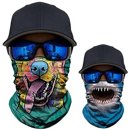 3d Seamless Magic Animal Scarf Neck Gaiter Balaclava Neck Warmer Face Mask Head Bandana Shield Headband Headwear Bandana Bicycle Apparel Accessories