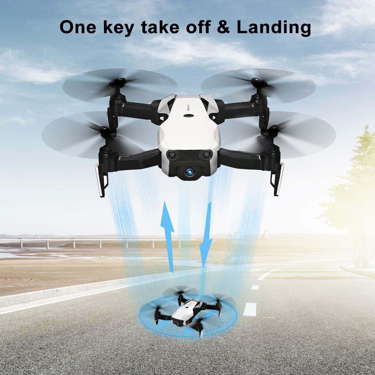 Drones with Camera 1080P for Adults,EACHINE E511 WiFi FPV Live Video Quadcopter with 120° FOV 1080P HD Camera, 17mins Long Flight Time Foldable RC Drone RTF - Altitude Hold, 3D Flip, APP Control by EACHINE (Image #5)
