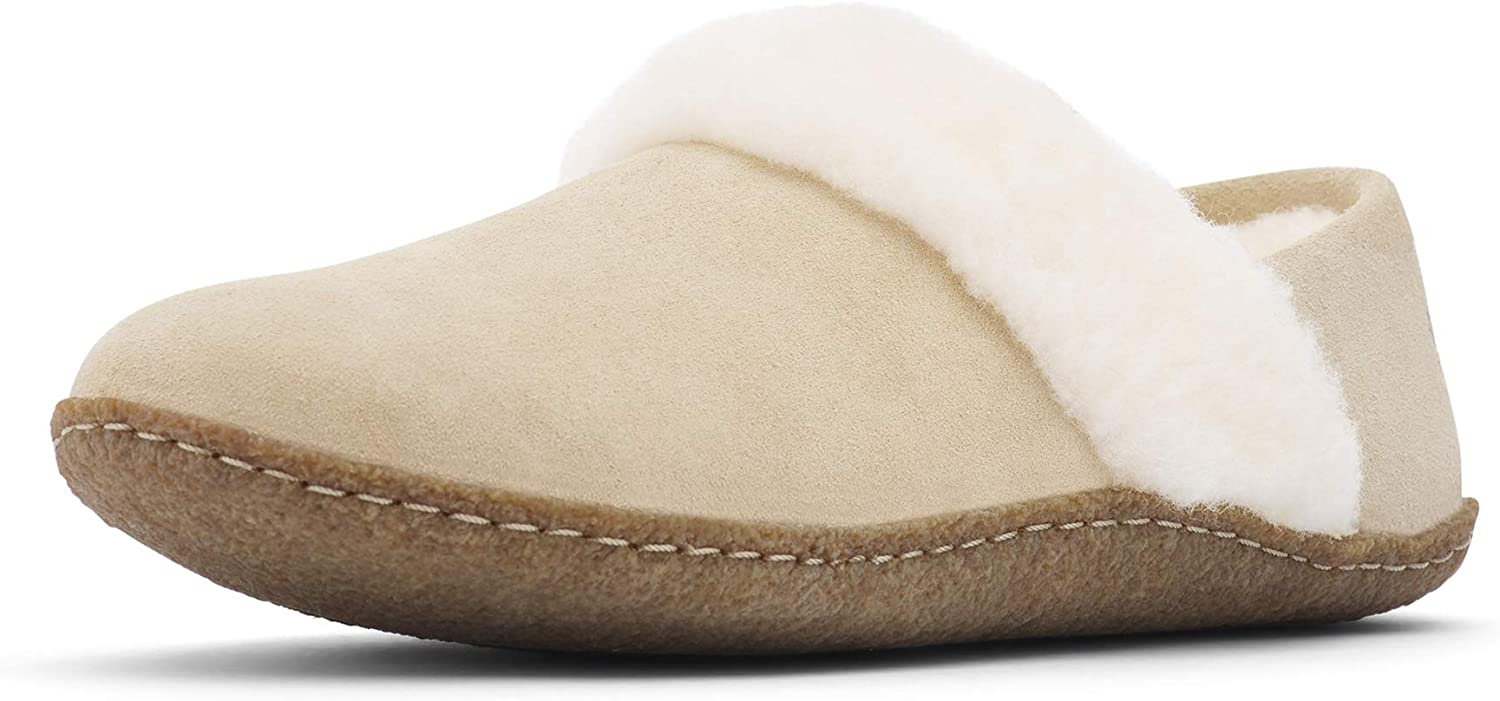 Sorel - Women's Nakiska Slipper II, House Slippers with Suede and Faux Fur Lining, British Tan, Natural, 7 M US