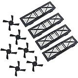 Signstek 10 PCS Ersatzteile, 4 * HEPA Filter und 6 * Seitenbürsten, für Neato BotVac D Serie D75 D80 D85 & Botvac 65 70e 75 80 85