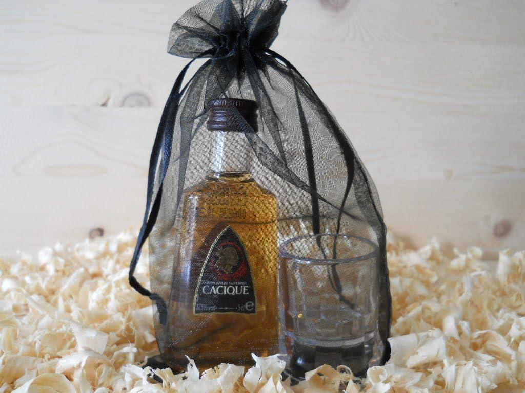 Botellin miniaturas Ron Cacique con vasito chupito - Pack de ...