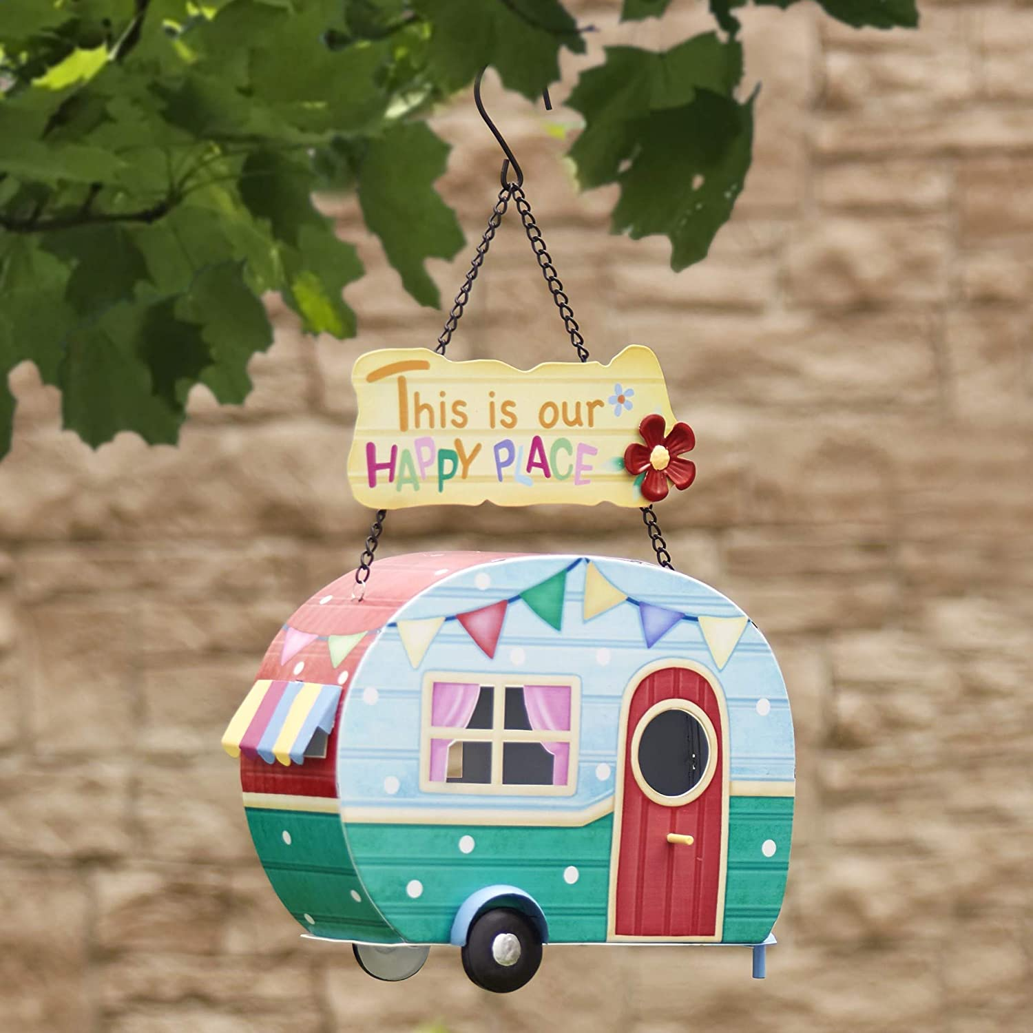 Ready to Hang The Lakeside Collection Camper Hanging Birdhouse This is Our Happy Place