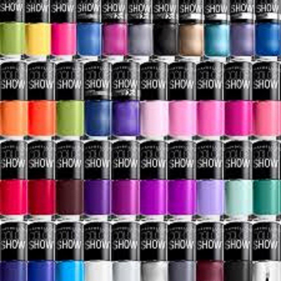 Amazon.com: Maybelline Color Show Finger Nail Polish Random 12 Piece ...