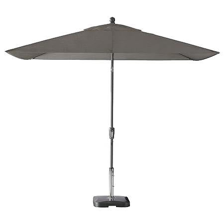 Secret Garden Home Goods Pismo Dawn 9 x 7 Rectangular Premium Push Tilt Market Umbrella Starring Grey, Sunbrella- Graphite