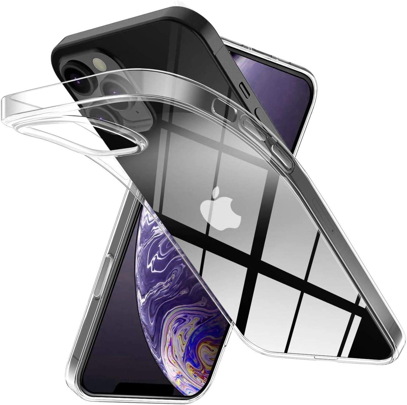 Funda de TPU transparente para iPhone 12 / iPhone 12 Pro.