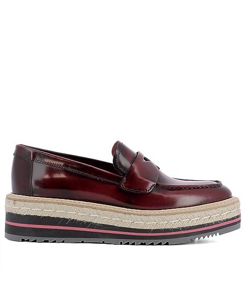 Prada - Mocasines para mujer rojo rojo IT - Marke Größe, color rojo, talla 36.5 IT - Marke Größe 36.5: Amazon.es: Zapatos y complementos