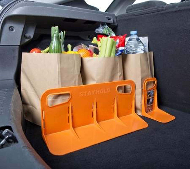 giftsbynet STAYHOLD Super Pack Car Boot Holder Tidy Organiser Hook /& Loop Straps Stands Kit Orange