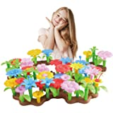 Bfuntoys 73Pcs Flower Garden Building Toys for Girls 2 3 4 Year Old, Indoor Stacking Game Pretend Playset for Toddler…