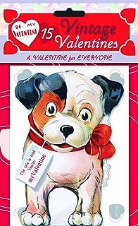 15 Vintage Valentines Retro Valentines 15 DieCut Cards in Bag