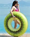 Jasonwell Giant Kiwi Pool Party Float 45 Inch Inflatable Pool Floats Tube Rafts with Rapid Valves Summer Beach Swimming Pool Lounge Decorations Toys for Adults & Kids