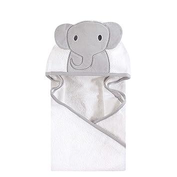 82e3b0f11 Amazon.com : Hudson Baby Animal Face Hooded Towel, Modern Elephant ...