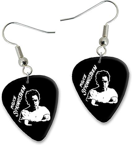 Bruce Springsteen Diseño 3 Guitarra Plectrum Pendientes Earrings ...