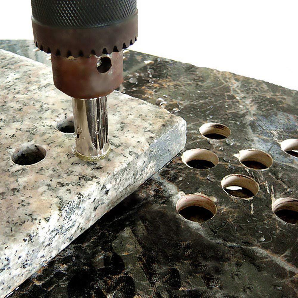 6mm Broca Diamantada para Baldosas de cer/ámica Cer/ámica M/ármol Juego de Taladro Diamante Porcelana Azulejo inherited 20 PCS Broca Diamante Perforar en Vidrio Acero al Carbono