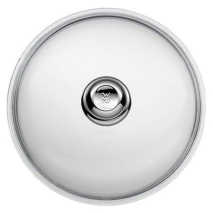 WMF Tapas Tapa de Cristal para sartén con pomo de Material sintético, Vidrio, 28