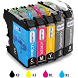 Office World Compatible Ink Cartridge Replacement for LC203XL 5 Pack,Compatible with MFC-J480DW MFC-J880DW MFC-J460DW MFC-J4620DW MFC-J4420DW MFC-J5520DW MFC-J680DW MFC-J5720DW